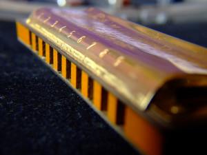 gold sideways harmonica james havill music